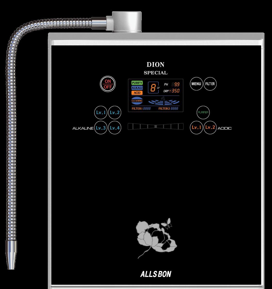 Allsbon Dion Special Wasserionisierer basisches Wasser png