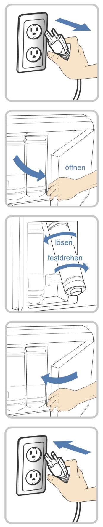 Filterreset Tyent UCE 9000 und 11 Untertisch Wasserionisierer m Text