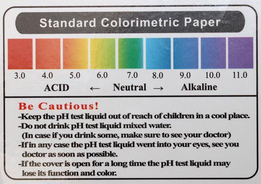 pH Wert Ermittlung Farben des pH Wertes 520