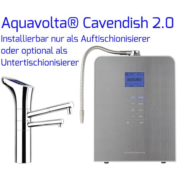 Aquavolta® Cavendish 2-0 Auftisch- und Untertisch-Ionisierer mit Bedienhahn 600