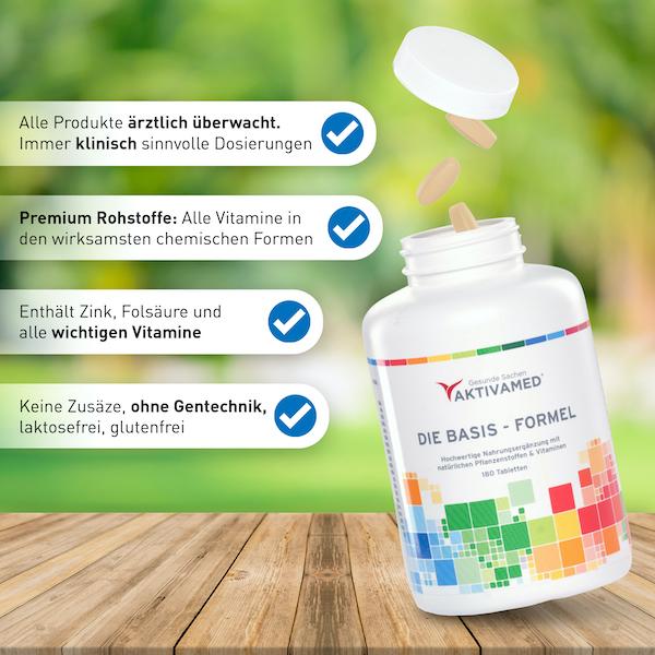 Aktivamed - Die Basis Formel - Nahrungserganzung USP 600
