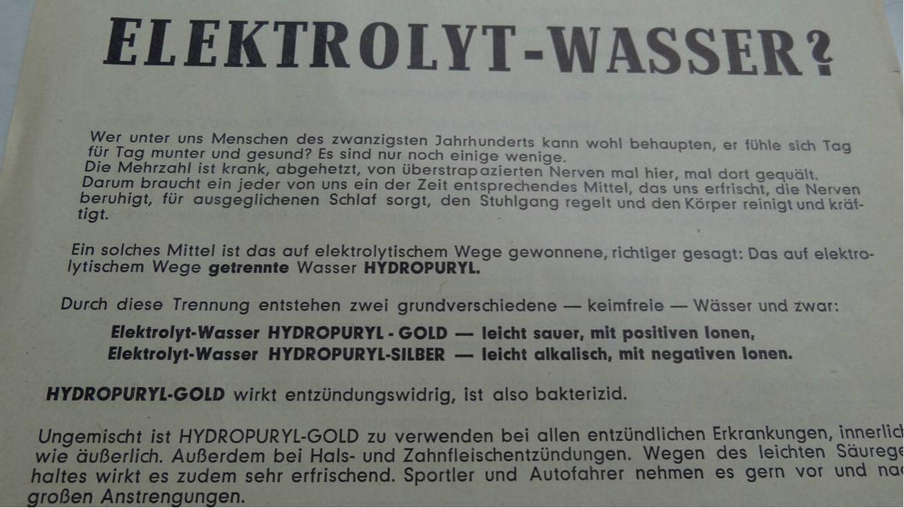 Elektrolyt Wasser 1