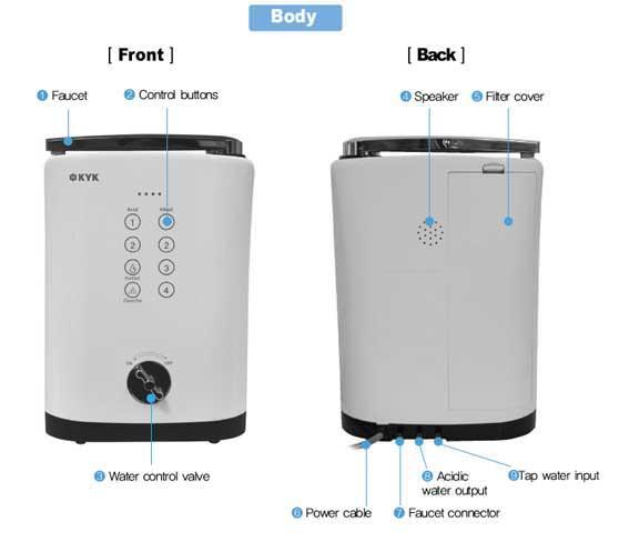 AquaVolta Basic Übertisch Wasserionisierer Hisha KYK Küche 4