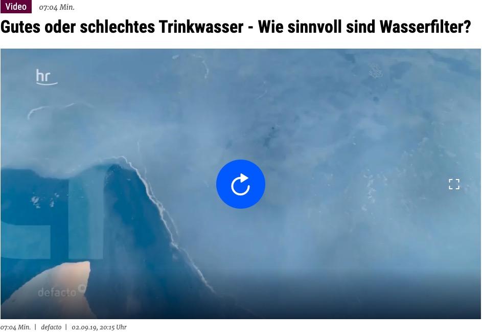 hr - Hessischer Rundfunk - Gutes oder schlechtes Trinkwasser - Wie sinnnvoll sind Wasserfilter