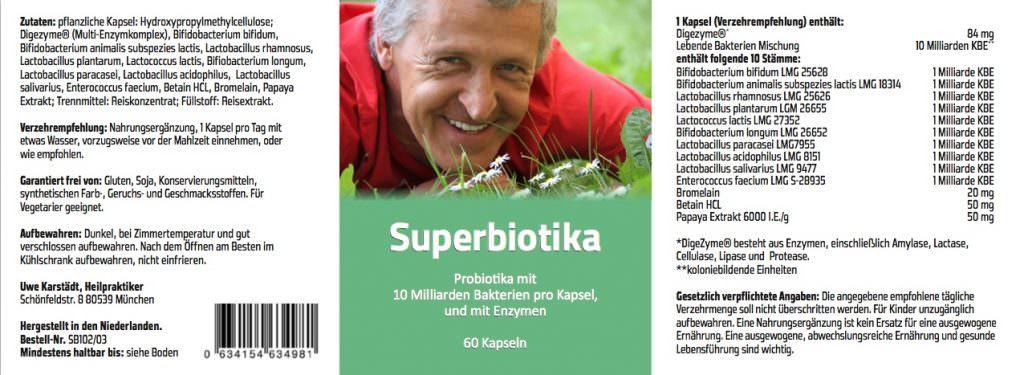 Karstaedts Superbiotika Verpackungsbeschriftung