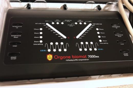 Orgone Biomat Queen Bedienelement nah 520