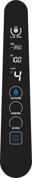 AquaVolta Elegance Bedienfeld - Stufe Alkaline 4 -600