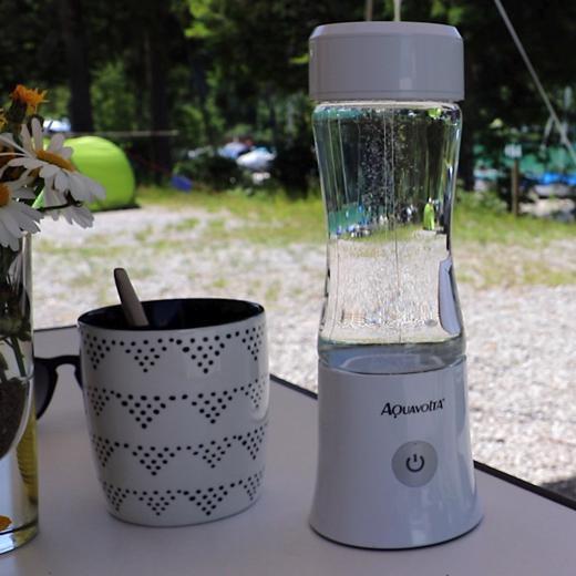 Age2go 2.8 Wasserstoff Generator Camping am Walchensee mit Tasse
