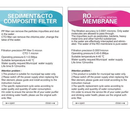 Filterset Osmoveda Umkehrosmose-Anlage mit Heisswasser-Funktion 400