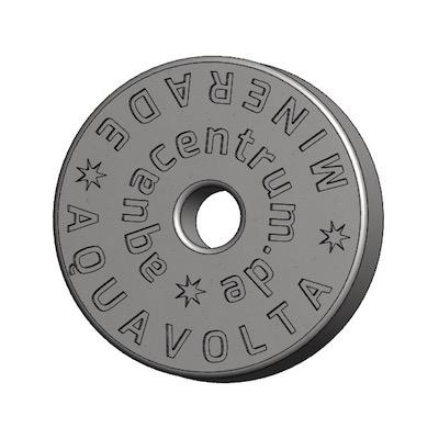 Vorderseite Minerade Heptagon Sprudelkeramik zur Erhoehung pH-Wert und Senkung ORP-Werts 400