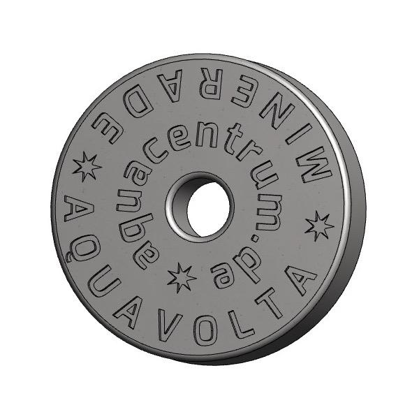 Vorderseite Minerade Heptagon Sprudelkeramik zur Erhoehung pH-Wert und Senkung ORP-Werts