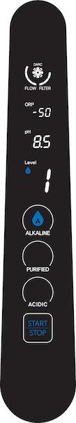 AquaVolta Elegance H2-Wasser-Generator Bedienfeld - Stufe Alkaline 1 600