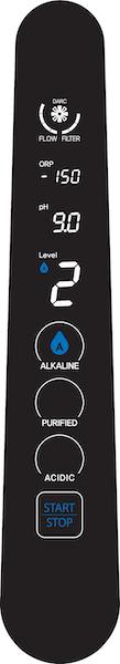 AquaVolta Elegance Wasserstoff-Wasser-Generator Bedienhahn - Stufe Alkaline 2 600