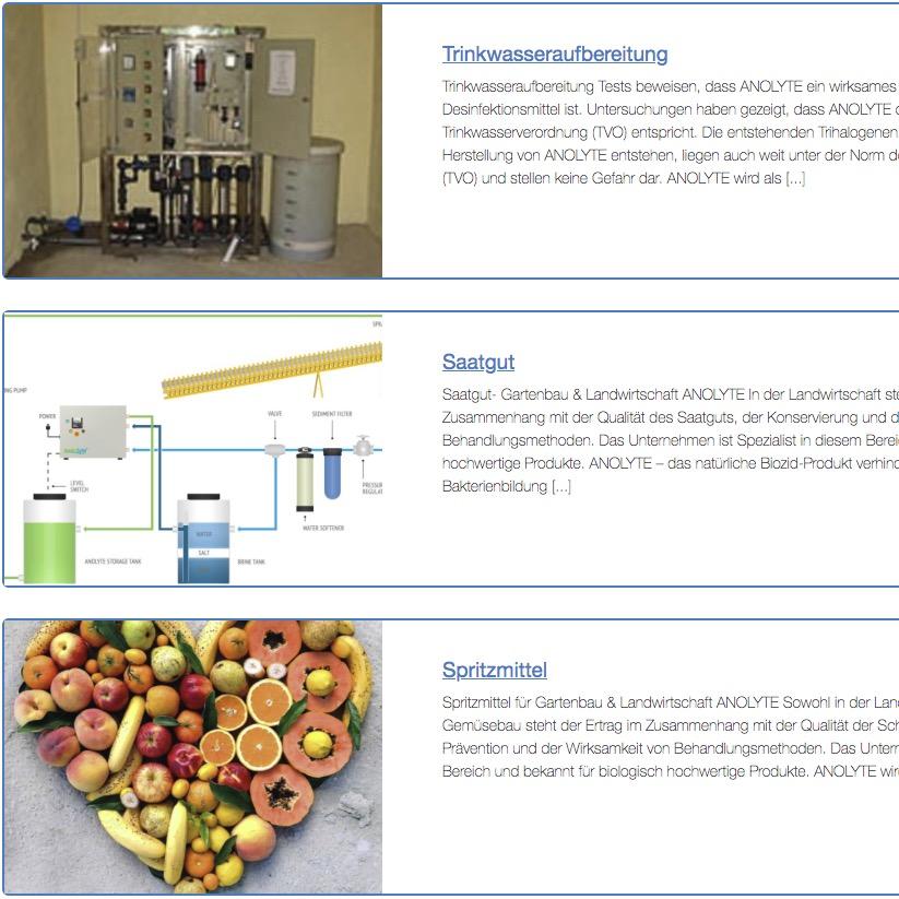 Anwendung ECA-Wasser-Anolyt und Katolyt aus einer ECA Anlage