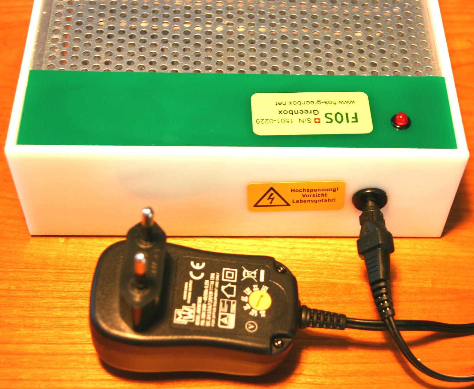 Urzeitcode FIOS Greenbox Experimentierzwecke - Netzteil