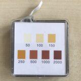 Messstreifen Aktivchlor bis 2000ppm FAC Hypochlorige Säure und Hypochlorit 400