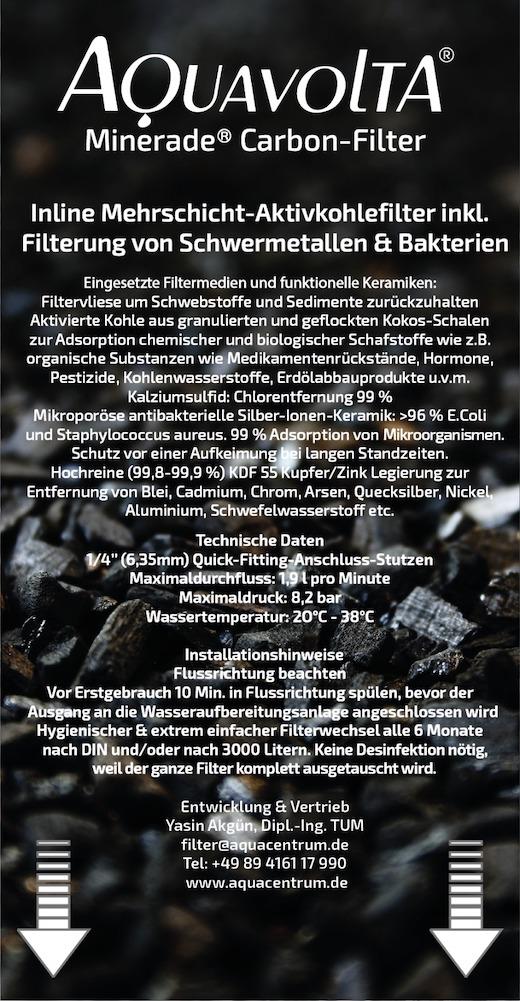 Minerade Carbon Filter 2021 label 520