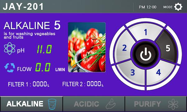 Touch Display Alkaline 1 EOS Touch 201 Wasserionisierer basisches Wasser 600
