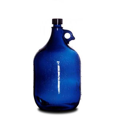 Wasserflasche-2-liter-blau-glas