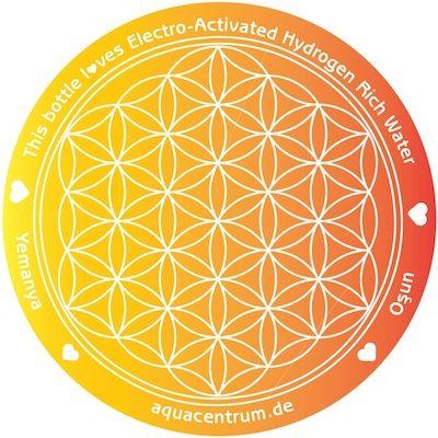 Blume des Lebens - Flower of Life - Yemanya - Osun - Oxum - Hydrogen Rich Water 400