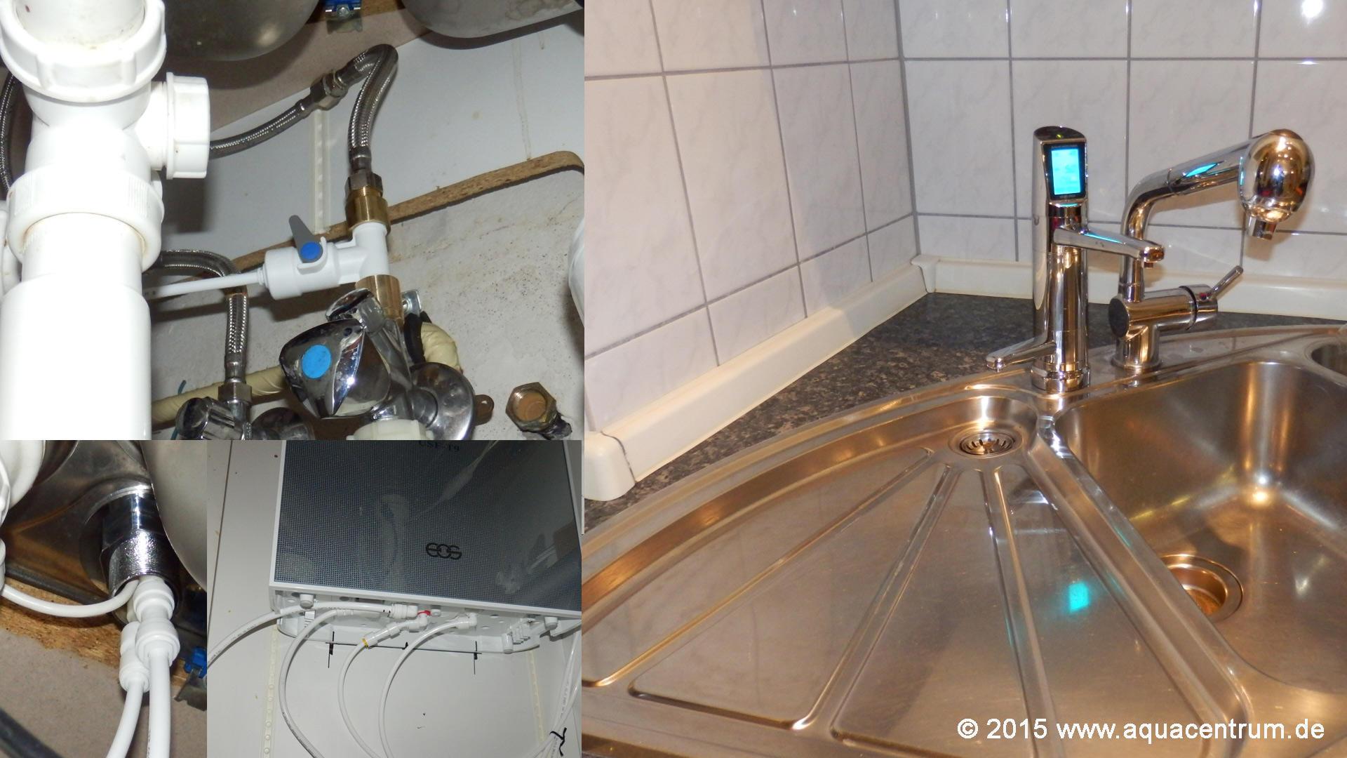 Installation Auftisch- und Untertisch-Wasserionisierer ...