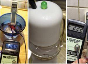 Chemische Wasserionisierer elektrische Mini Elektrolysegeraete Messungen