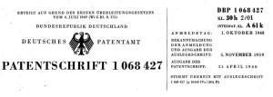 Patentschrift Natterer