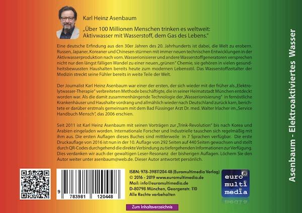 Rueckseite Elektroaktiviertes Wasser Asenbaum - 2019 10te Auflage eBook 469 Seiten by Karl Heinz Asenbaum 600
