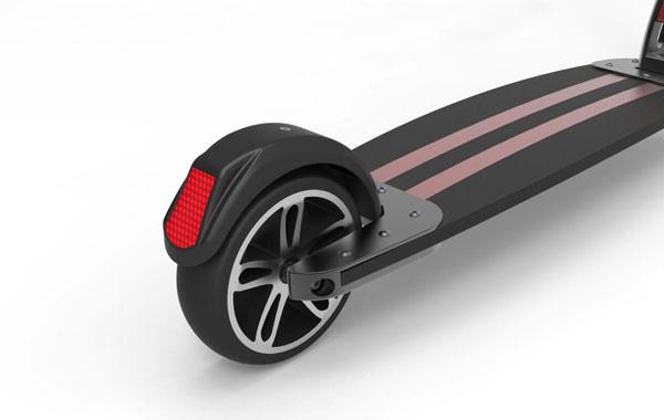 ElectroBoard - Electric kick scooter 300 Watt - rear reflective stripe