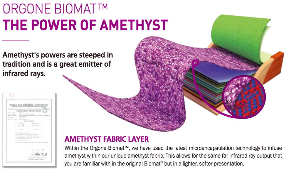 Orgone Biomat amethyst power