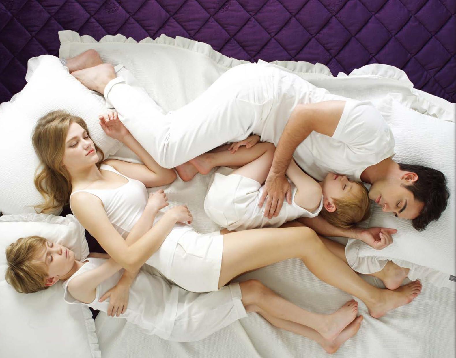 Orgone Biomat family sleeping