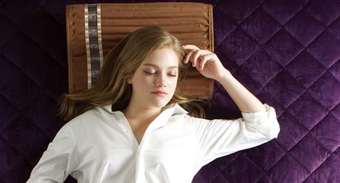 Orgone Biomat woman sleeping
