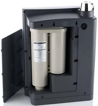 AquaVolta Elegance Untertisch Wasserionisierer Innensicht Filterpatronen