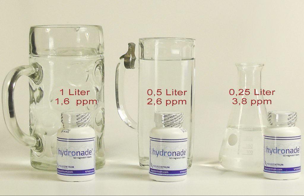 Hydronade H2 Magnesium Sprudeltabletten Messwert