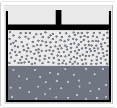 proportionale Gasverteilung in Fluessigkeiten und ultrakleie Wasserstoff-Gasblasen
