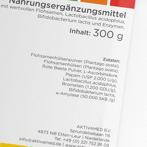 Colomir Pur Aktivamed ballaststoffe enzyme flora darmreinigung - Etikett2 -600