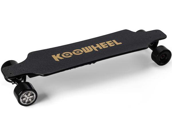 Koowheel 25-7 Electric Skateboard with Hub-Motors from side top 600