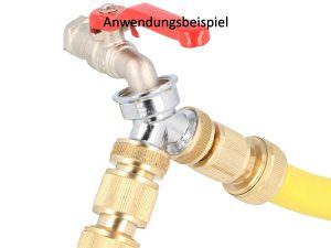 Anwendungsbeispiel- 2-Wege Verteilerstueck Y Verteiler 3:4 Zoll zum Anschluss 2 Geraetewaschmaschine und Wasserionisierer o Wasserfilter
