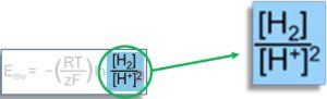 Zusammenhang zwischen dem geloesten H2 - ph-Wert und Redoxpotential Nernst Gleichung Redox-Paar