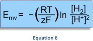 Zusammenhang zwischen dem geloesten H2 - ph-Wert und Redoxpotential Oxidation und Reduktion Equation 6