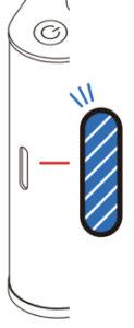 AquaVolta Vortex Booster Inhalator Diagram Blau Licht