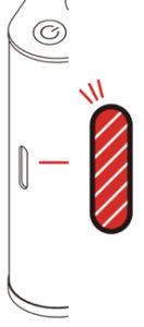 AquaVolta Vortex Booster Inhalator Diagram Rot Licht flackert