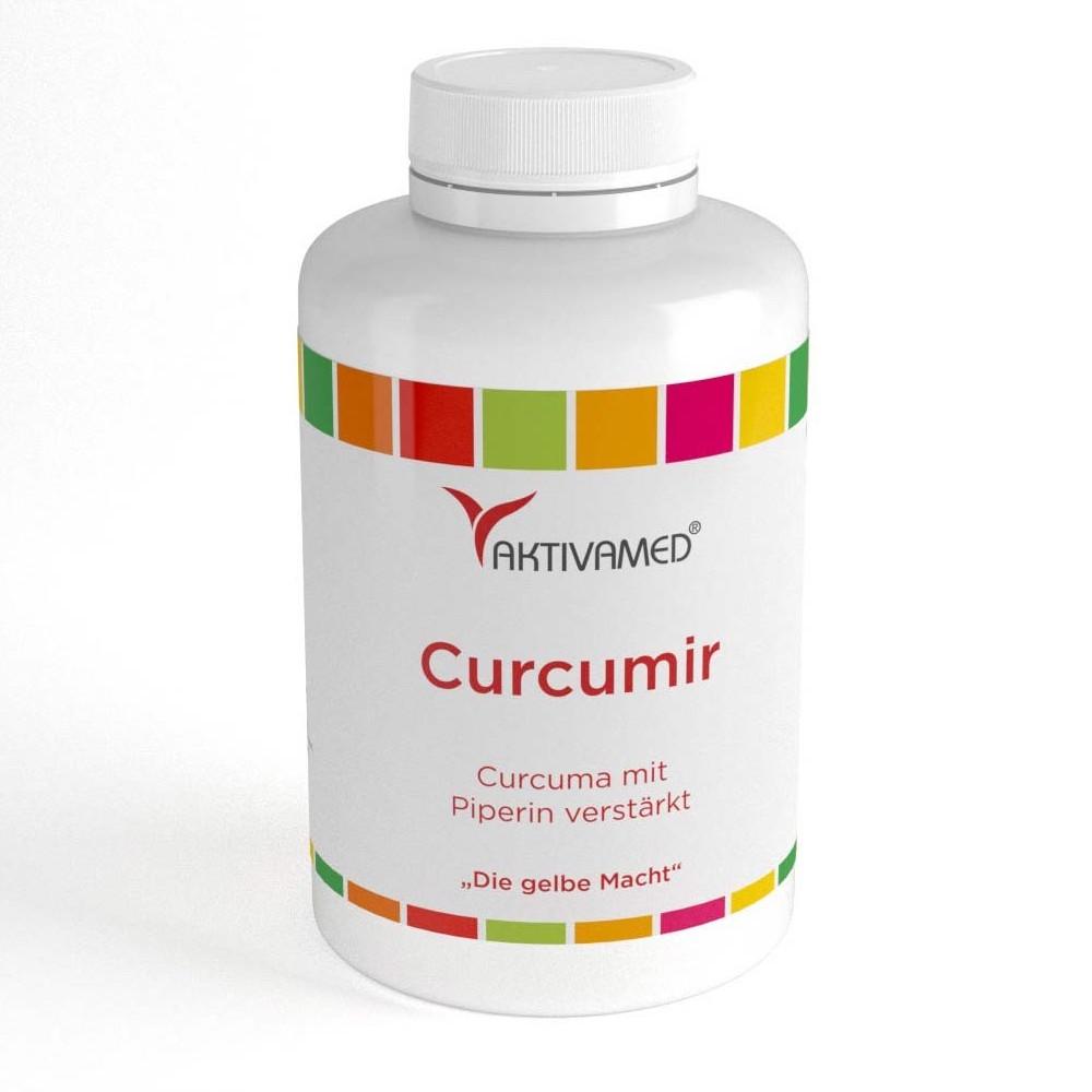 Curcumir - 500mg Curcuma mit 10mg Piperin verstaerkt - 180 Kapseln
