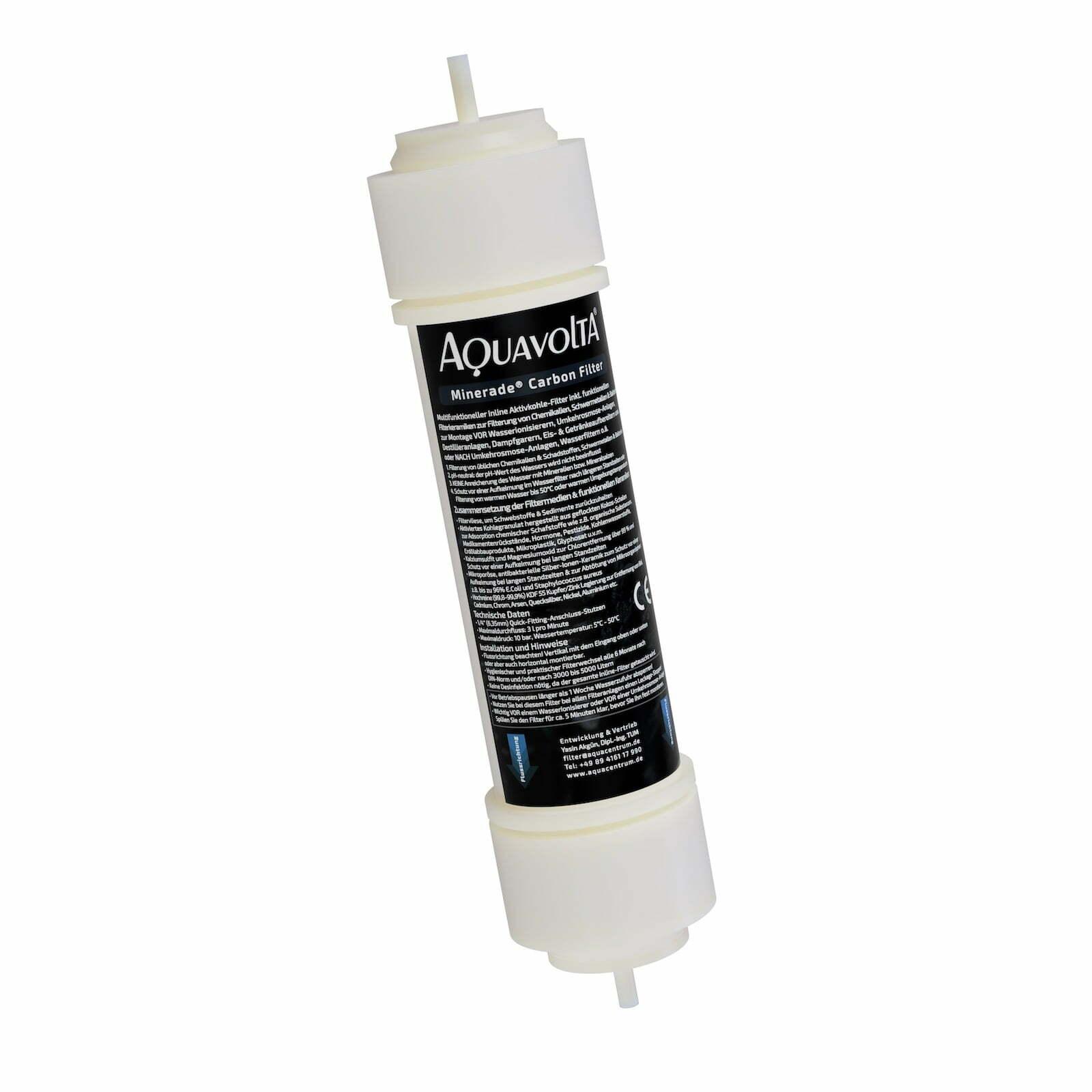 Inline Aktivkohlegranulat-Filter inkl multifunktionellen Filter-Keramiken