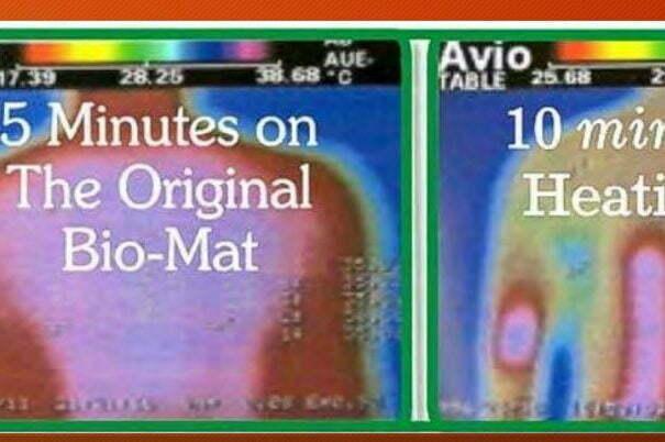 BioMat Amethyst Richway 5 Minuten verglichen mit Heizmate