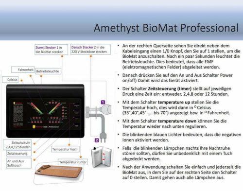 BioMat Amethyst Richway Infrarotmatte Heilmatte Professional Bedienelement 900