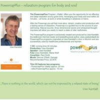 PowernaPlus vitality-program - Relaxation program for body and soul - Uwe Karstädt 400