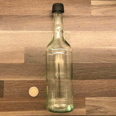 Wasserflasche 500ml aus Glas - klar - inkl - Schraubdeckel