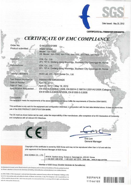 CE Zertifikat Aquavolta Elegance Untertisch Wasser Ionisator