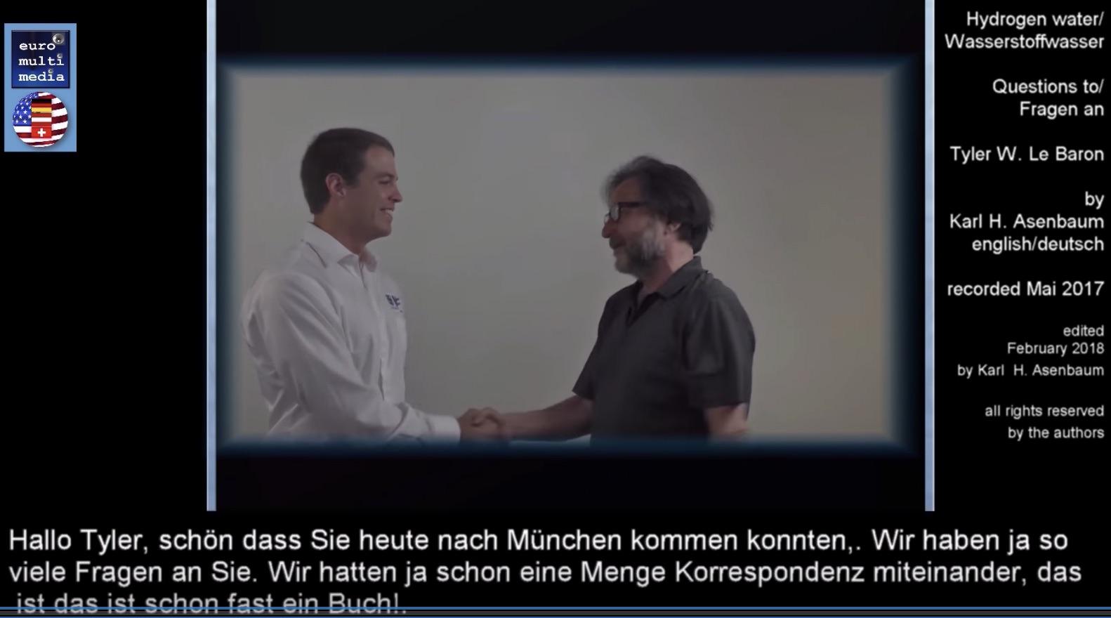 Tyler Le Baron in Munich interview by Karl Heinz Asenbaum Hydrogen Water